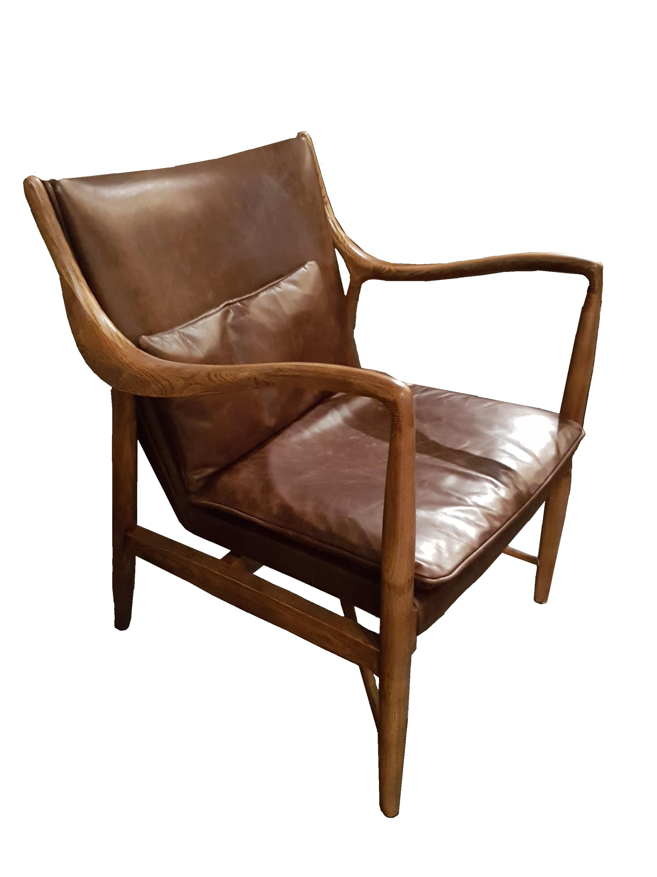Danish Classic Leather and Oak Chair