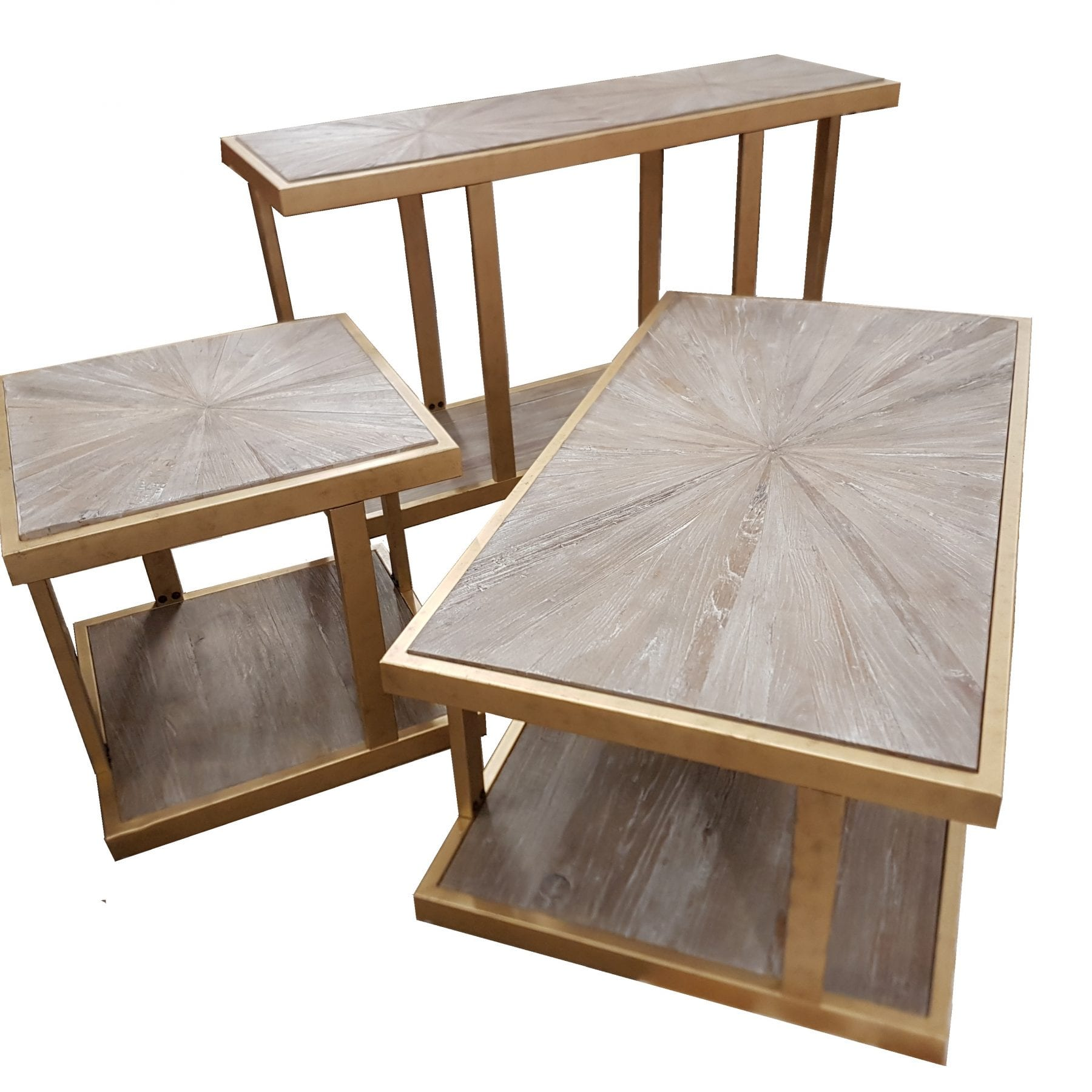 Elm and Gold Table Collection