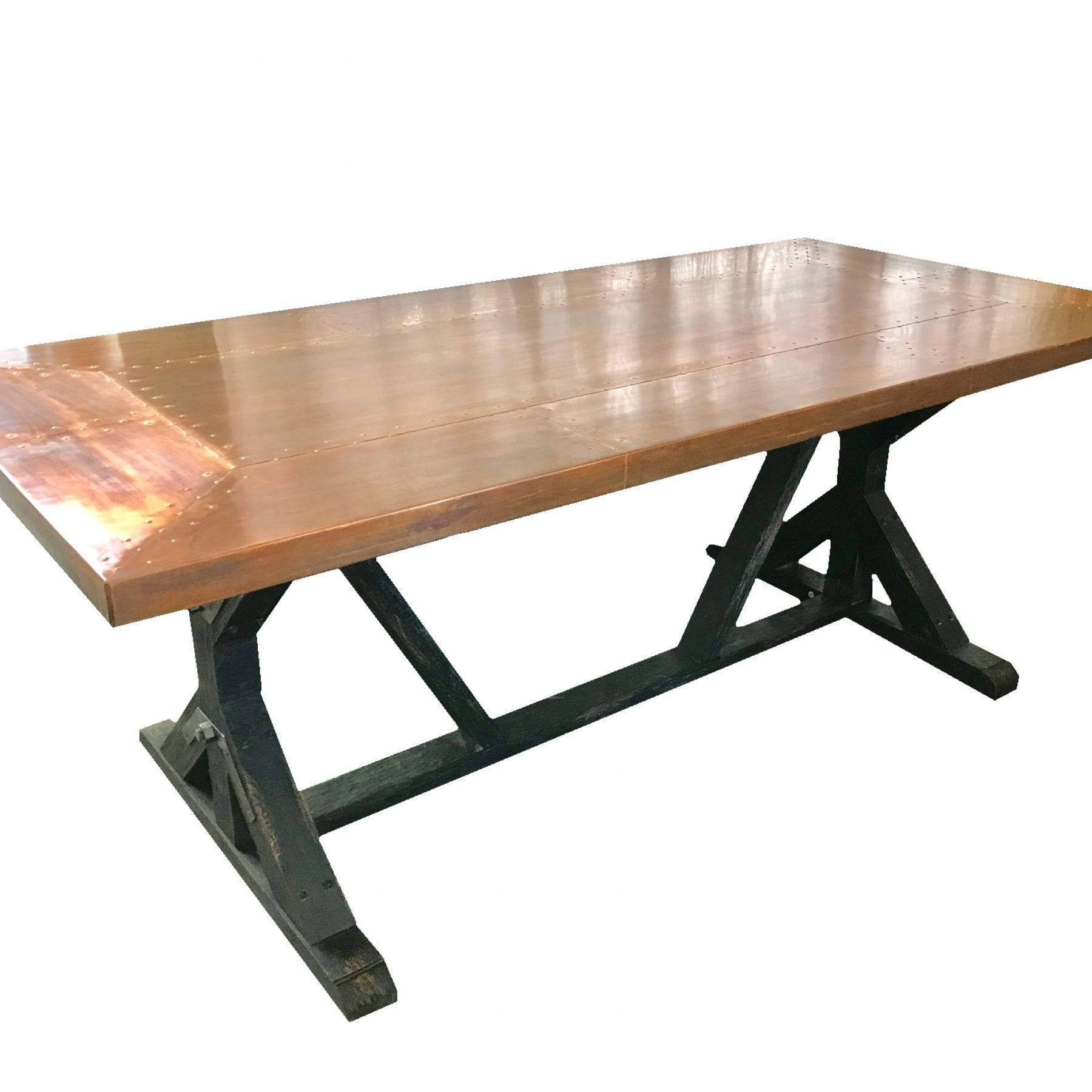 Iron Bridge Copper Top Dining Table