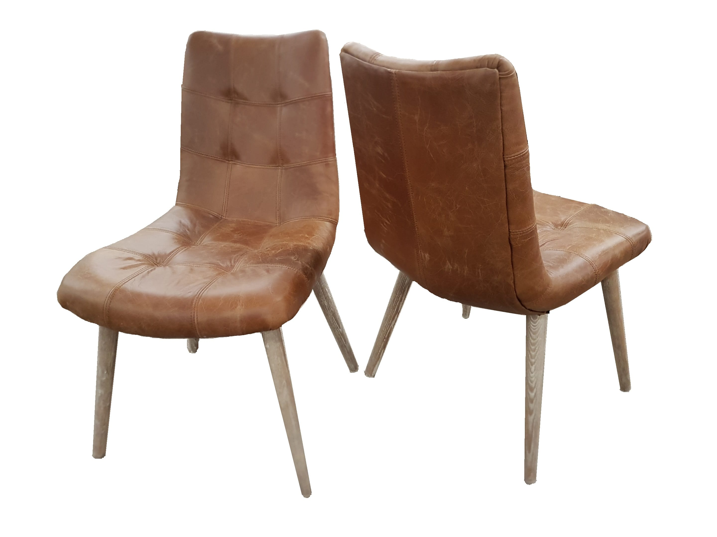 Nova Leather and Oak Dining Chair