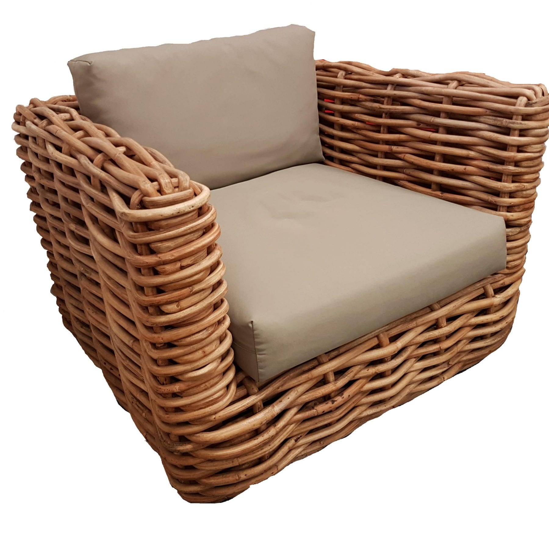 Rattan Square Club Chair