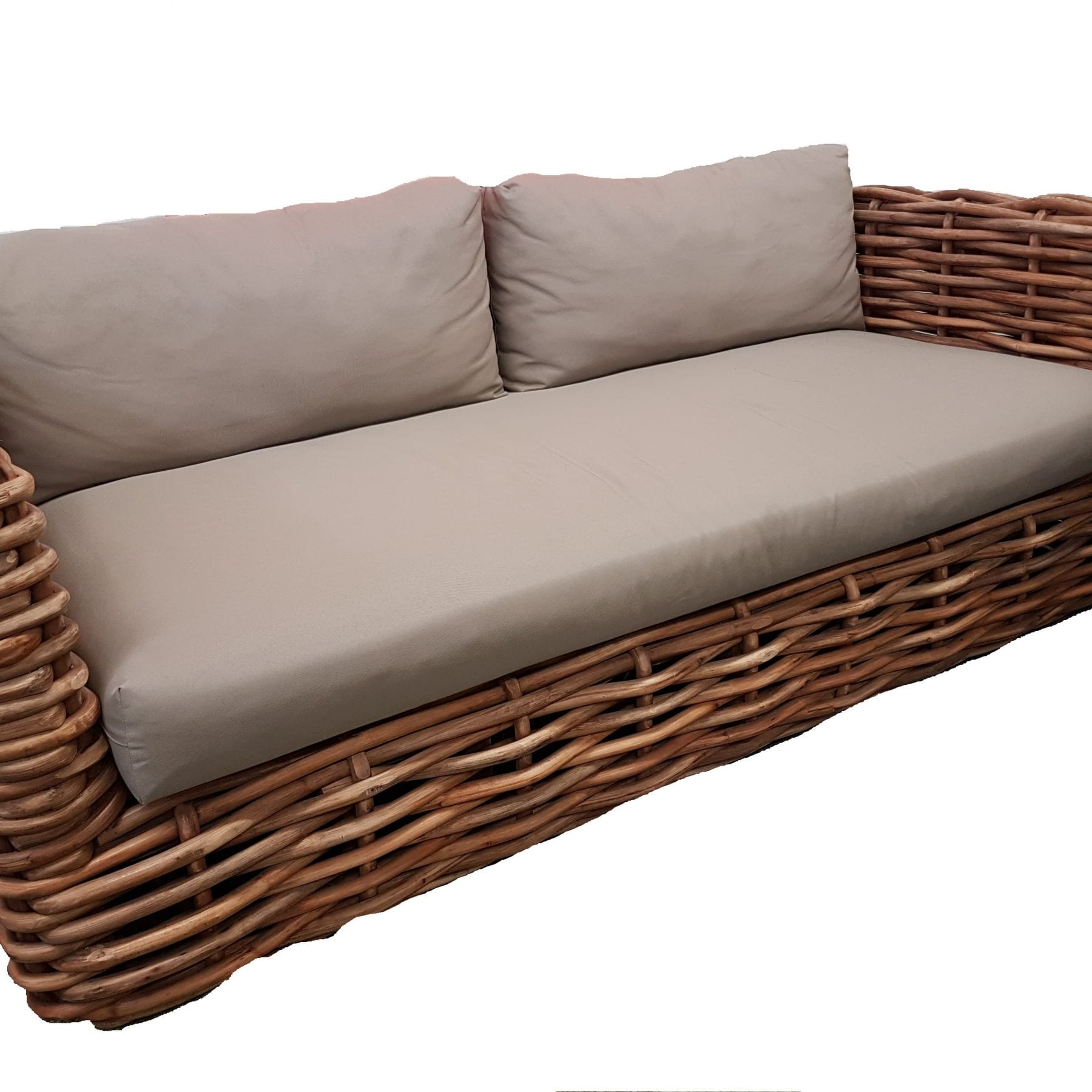 Rattan Square Club Sofa
