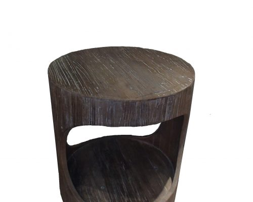 Recycled Elm Circular Side Table