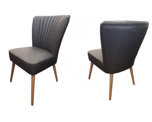 Royal Oak and Vinyl Dining Chair