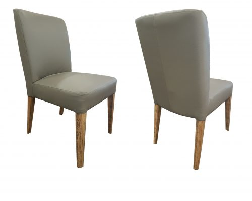 Simplicity Oak and Vinyl Dining Chair