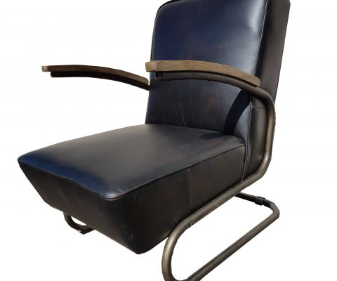 Springstien Leather and Steel Chair