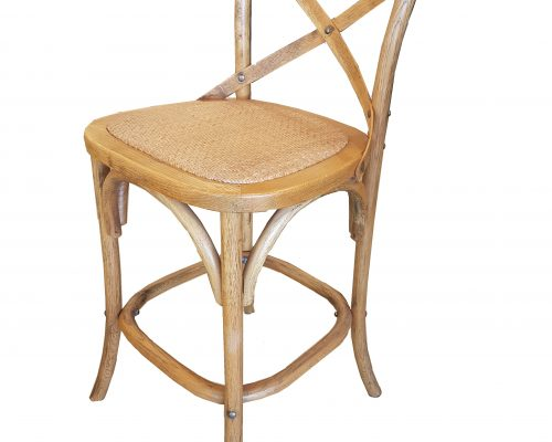 X Frame Oak Bar Stool